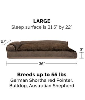 Furhaven Pet Dog Bed (Brown Large) for Sale in Los Angeles, CA