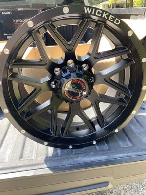 """Brand new set of wicked off-road wheels 20"""" for Sale in Clover, SC"""