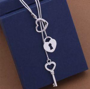 Silver 925 Key pendant Necklace for Sale in Dallas, TX