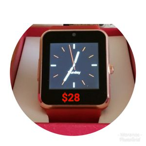 BLUETOOTH SMART WATCH FOR IPHONE AND ANDROID SIM CARD AND SD CARD SLOT NEW WATERPROOF for Sale in Anaheim, CA