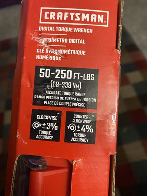 CRAFTSMAN 1/2-in Drive Digital Torque Wrench (50-ft lb to 250-ft lb) New for Sale in San Diego, CA