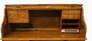 Winners only solid oak 54 inch roll top desk desktop only for Sale in Phoenix, AZ
