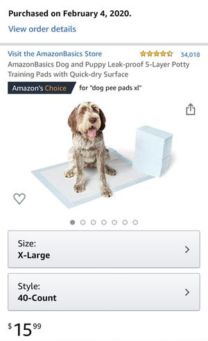 AmazonBasics Dog and Puppy Leak-proof 5-Layer Potty Pads for Sale in Bothell, WA