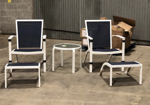 Brand new patio furniture set. Navy blue, red, and gray for Sale in Stone Mountain, GA