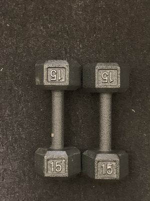 15lbs dumbbells for Sale in Worthington, OH