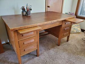 Antique desk (heavy duty) for Sale in Tacoma, WA