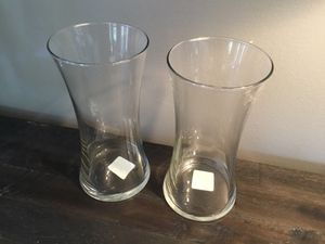 """Two Brand New Libbey Flare Clear Glass 8"""" Vases for Sale in Goodlettsville, TN"""