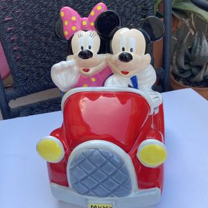 Mickey & Minnie Mouse Car Collectible Cookie Jar for Sale in Santee, CA