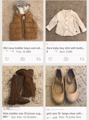 Selling kids clothing great brands ranging from size 6 months to 6 years old for Sale in Fremont, CA