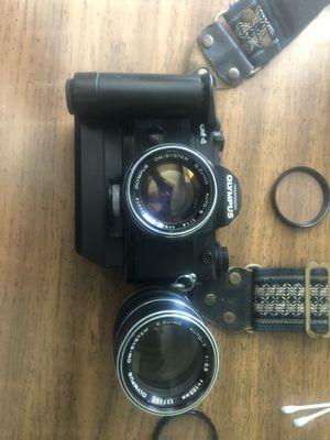 Olympus OM-4 w/ 2x Zuiko prime lenses + om winder 2 for Sale in Huntington Beach, CA