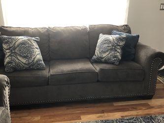 "Dark gray Sofa & Loveseat Sofa :93""Wx37""D Loveseat:69""Wx37""D for Sale in Peabody,  MA"