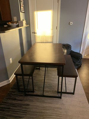 Donning room table and bench for Sale in Alexandria, VA