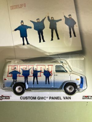Hot wheels premium The Beatles custom GMC panel van metal body metal chassis real rider tires $25 for Sale in Tamarac, FL
