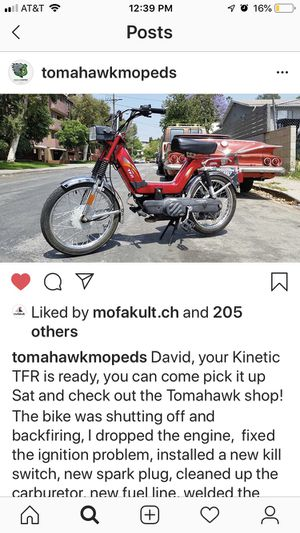 Kinetic TFR USA moped for sale! for Sale in Culver City, CA