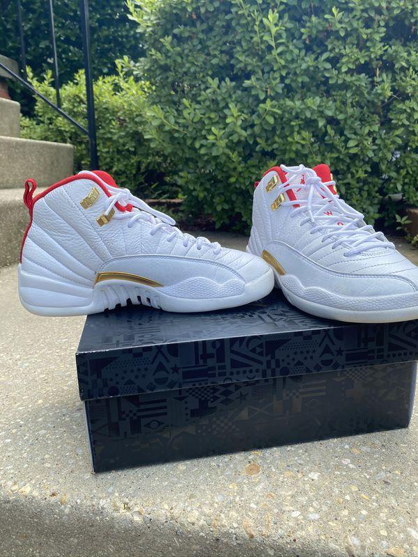 "Jordan 12 Retro Fiba and Air Jordan Retro 13 ""Hyper Pink "" Package Deal"