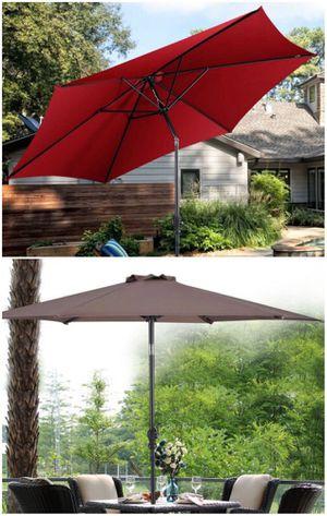 New in box large 10 feet diameter tilt adjustable crank open outdoor patio umbrella waterproof sun shade canopy paraguas for Sale in Baldwin Park, CA
