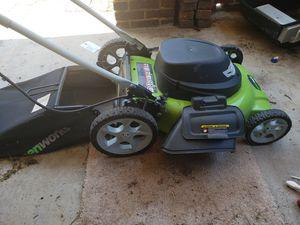 Greenworks corded/electric lawnmower for Sale in Roanoke, VA
