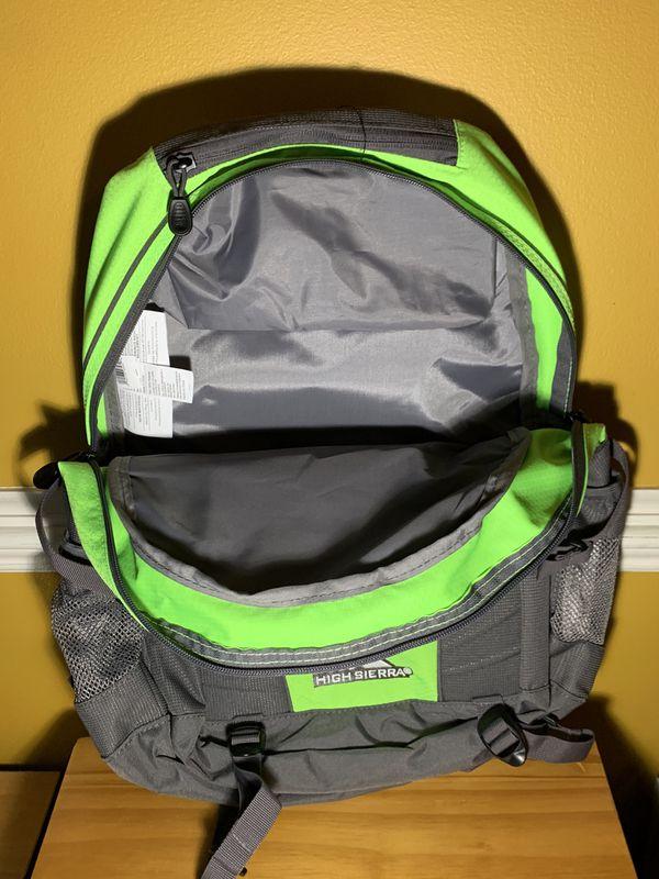 NEW 🔥 High Sierra Water Repellant Hiking Backpack