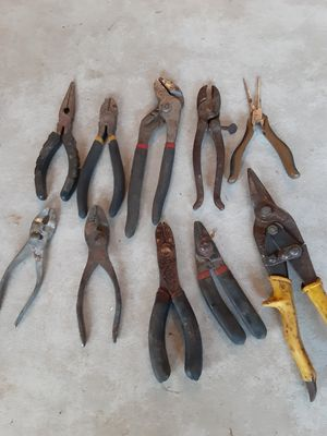 Tools, 10 pieces, pliers, stripper's, channel locks. Porch Pick up in North Hagerstown Md. for Sale in Hagerstown, MD