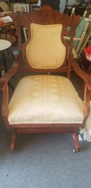 Antique Chair with original casters for Sale in Sanford, NC