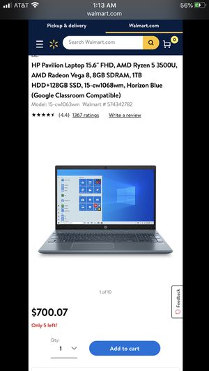 Hp pavilion lab top for Sale in Groves, TX