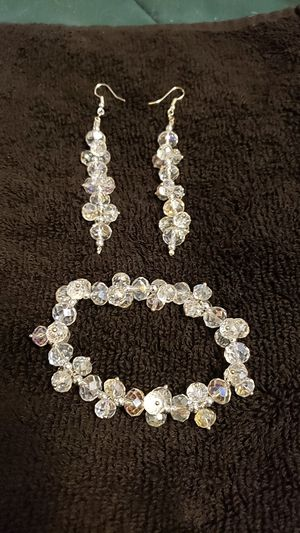 Crystal Bracelet and matching earrings for Sale in Wichita, KS