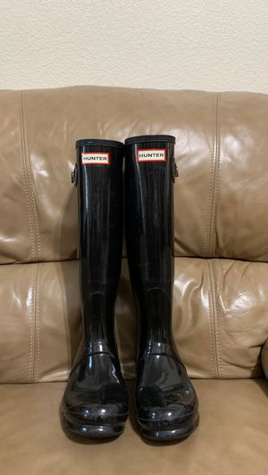 Black Hunter Rain boots. for Sale in Mesquite, TX
