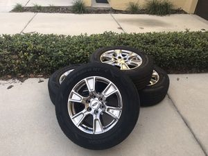 Four like new tires and chrome wheels (2016 F150) for Sale in Tampa, FL