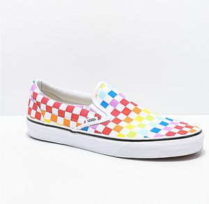 Vans Slip-On Rainbow Checkerboard Skate Shoes for Sale in North Miami, FL