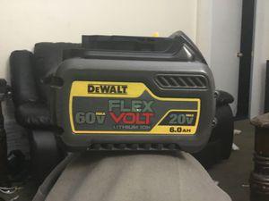Dewalt flex volt 60/20volt 6.0ah battery Used 5 times/like new for Sale in Fremont, CA
