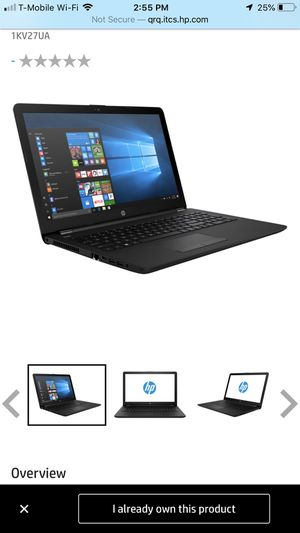HP Notebook - 15-bw011dx for Sale in Miami, FL