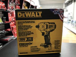 """Dewalt 1/2"""" Impact Wrench 20v Tool Only for Sale in Ashland, MA"""