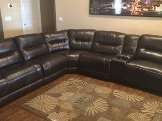 Rap Around Leather Couch for Sale in Henderson,  NV