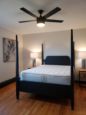 Mid Century Black Four Poster Queen Bed for Sale in Shelton, CT