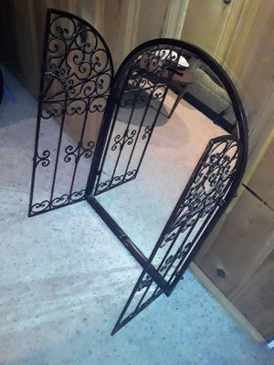 Big mirror with iron doors perfect for anywhere definitely a convo starting for Sale in Denver, CO