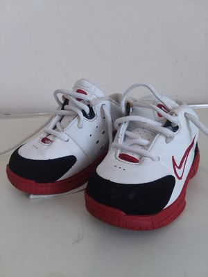 Nike Toddler Boy's infant White-Black-Red Tennis Shoes Sz 6C for Sale in Silver Spring, MD