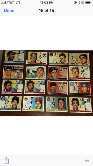 * 1955 TOPPS BASEBALL CARDS (14) * EXEMPLARY CONDITION! * & (3) 1956 * for Sale in Lafayette, CA