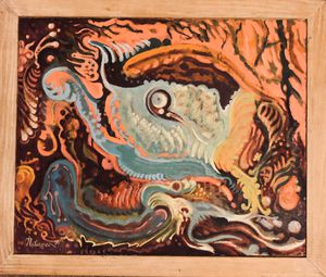 "Original Waterman oil ""toy"" painting 1996 for Sale in Portland, ME"