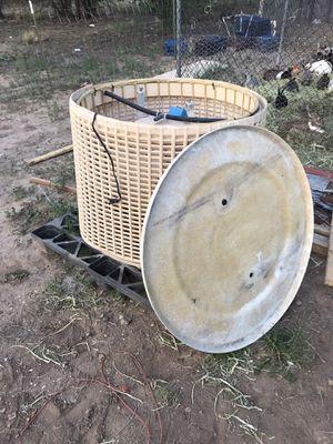 round fiberglass evaporative cooler for sale $125 or best offer for Sale in Albuquerque, NM