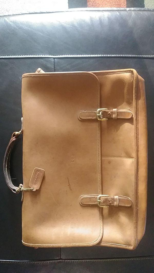 Men's Coach Leather Bean Bag