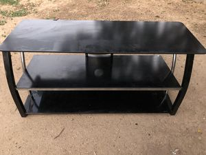 3 layer TV glass stand for Sale in Glendale, AZ