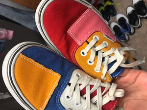 Vans (colorful)fairly worn for Sale in Ruskin, FL