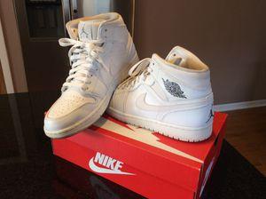White Air Jordan 1 mid size 9.5 for Sale in Oak Lawn, IL
