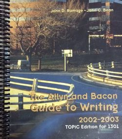 The Allyn & Bacon Guide to Writing, 2002-03, Topic Ed for Texas Tech University for Sale in Austin,  TX