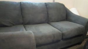 Ashley couch and loveseat, 2 years old excellent condition gunmetal gray. for Sale in Newburgh, IN