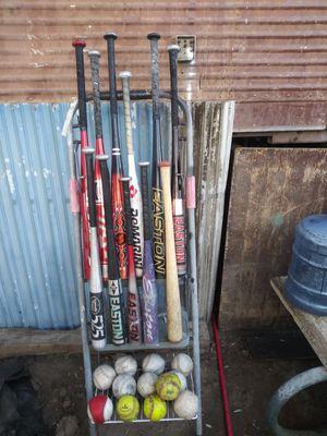 Baseball bats softballs and baseballs for Sale in Loma Linda, CA
