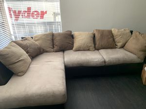Dark cherry wood furniture and sectional sofa for sale! for Sale in Mill Valley, CA