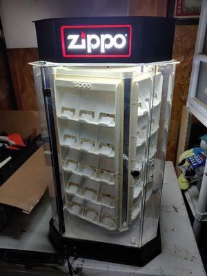 Light-up Revolving Zippo lighter display for Sale in West Linn, OR