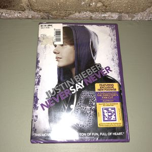 Justin Bieber DVD- new movie Never say never Tribeca Manhattan for Sale in New York, NY