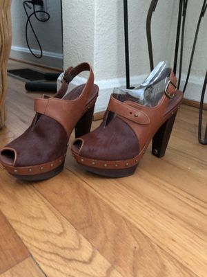 """UGG """"Illana"""" Leather/cow hair heeled mules for Sale in Orlando, FL"""